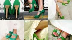 Кольорові весільні туфлі