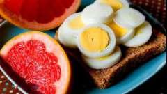 Ефективна дієта з грейпфрутом і яйцями
