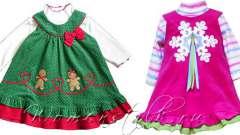 Новорічні сукні для дівчаток - зшити самими швидко і просто. Частина 2.