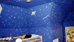 Стеля в дитячій кімнаті