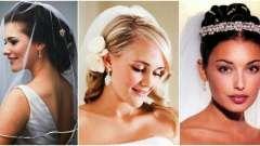 Зачіска нареченої з фатою