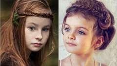 Зачіски для дівчаток з довгим волоссям