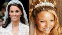 Зачіски з короною на весілля