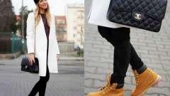 З чим носити черевики тімберленд жіночі?