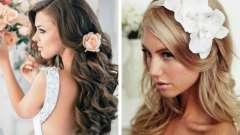 Весільні зачіски на довге розпущене волосся