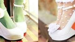 Весільні туфлі на платформі - фото