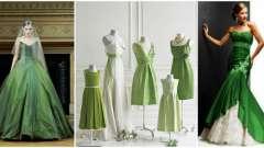 Зелені весільні сукні